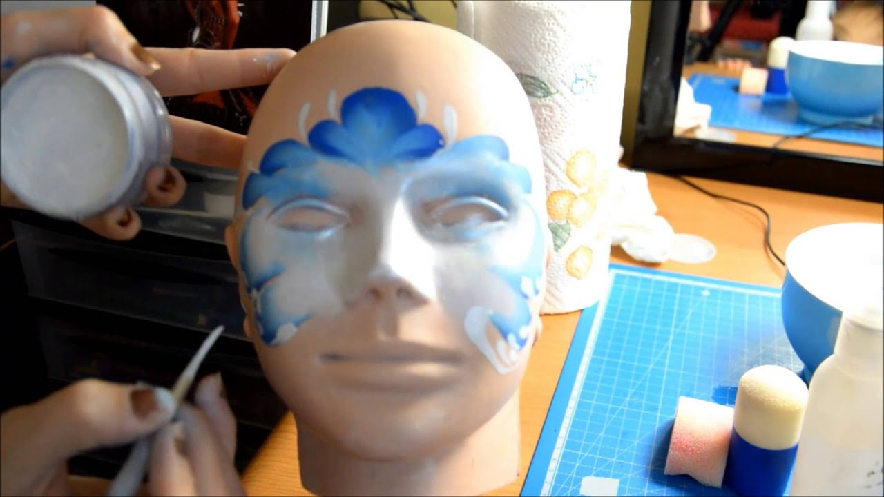 Maquillage facepainting princesse des neiges tutoriel youtube - Princesse des neige ...