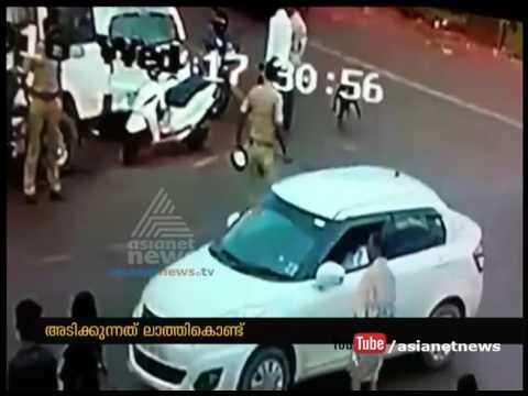 CCTV Visuals |Police beat a man for not wearing Helmet in  Kasaragod| FIR 22 Sep