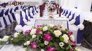 Украшение банкетного зала в ФИОЛЕТОВОМ цвете. Валентина Мендельсон