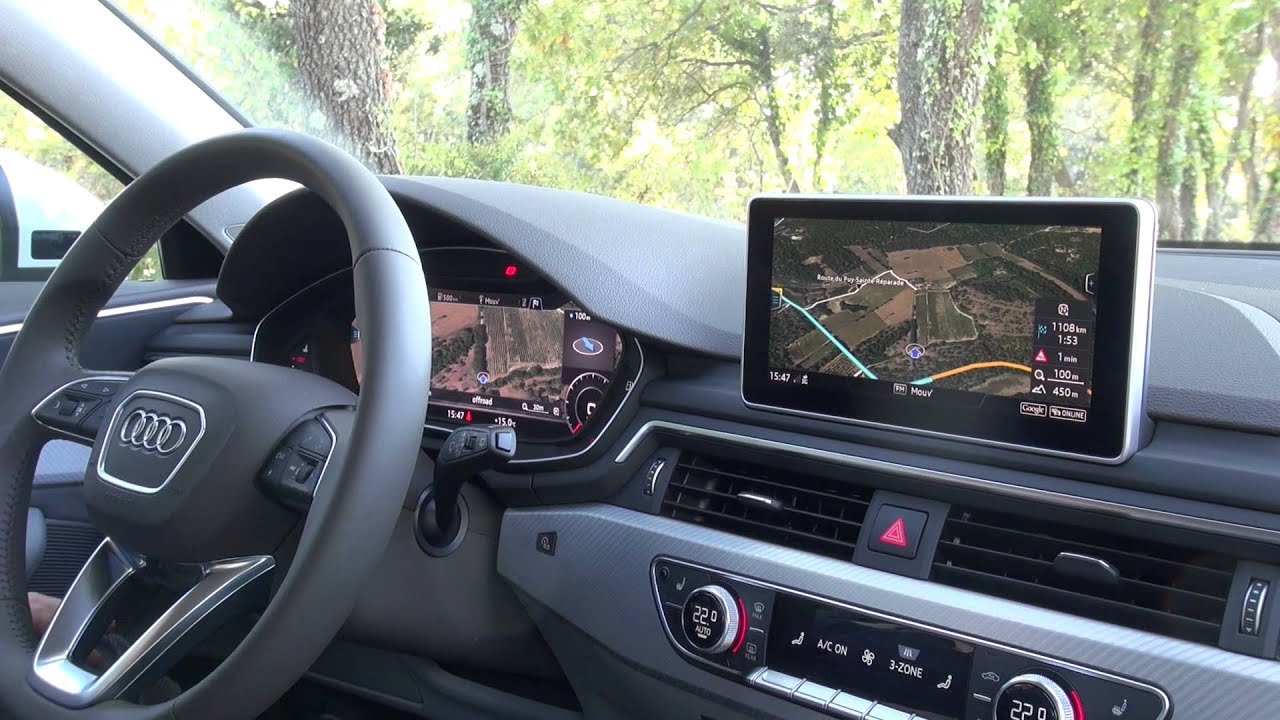 2015 audi a4 avant limousine mmi navigation plus mit mmi touch im test youtube. Black Bedroom Furniture Sets. Home Design Ideas