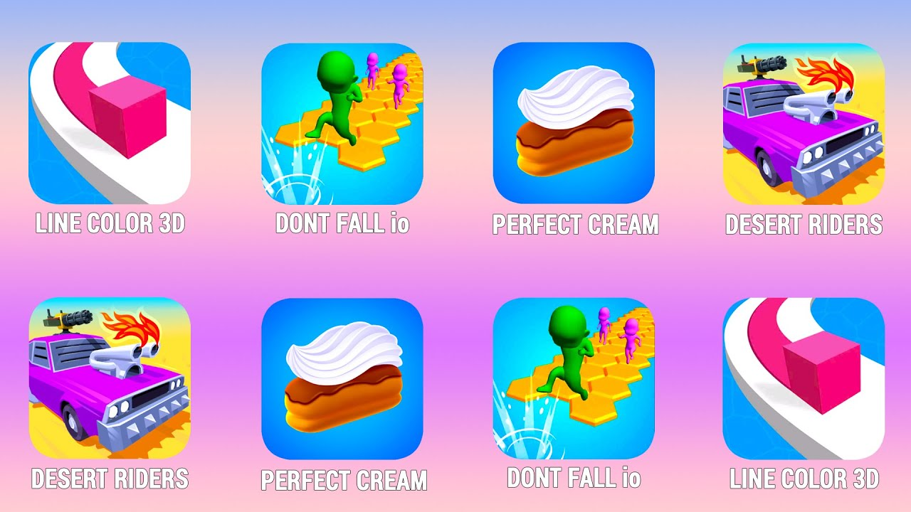 LINE COLOR 3D, Dont Fall.io, Perfect Cream, Desert Riders, Walkthrough (Android) | Power of Gameplay