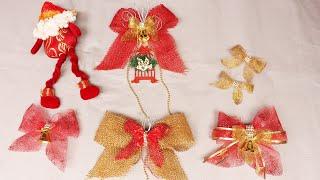Como Fazer Laços para Decoração de Natal