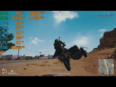 PUBG 1.0 AMD A10-9700 R7 iGPU Gameplay Benchmark Test
