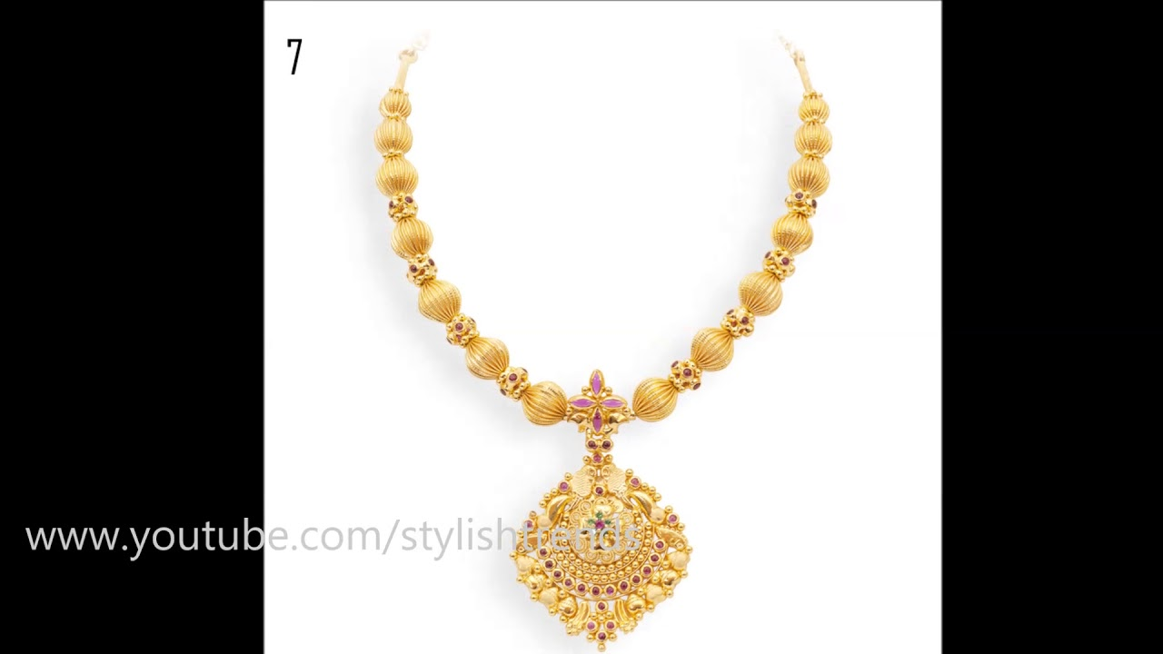 Simple Gold Necklace Designs 2017 - YouTube