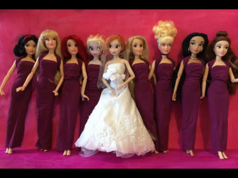 Anna Wedding Dress  Frozen Anna And Elsa Try Wedding Dresses On For Annas Wedding Day  Mini