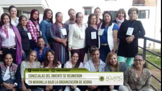 Concejalas del Oriente se reunieron en Marinilla bajo la organización de ACORA