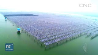 China from above: Floating solar power plant in E China