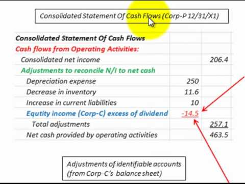 Consolidated Cash Flow Statement (Influential Ownership Equity