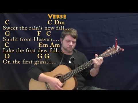 Morning Has Broken (HYMN) Guitar Lesson Chord Chart in C with Chords/Lyrics