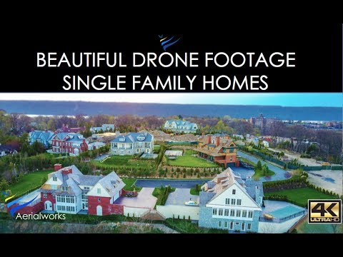 Beautiful Drone Footage of Luxury Family Homes - Shot in 4K