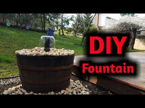 DIY Barrel/Pot Fountain!!!