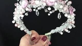 Нежная свадебная корона ручной работы