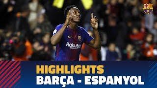 [HIGHLIGHTS] FC Barcelona - Espanyol (0-0, 4-2)