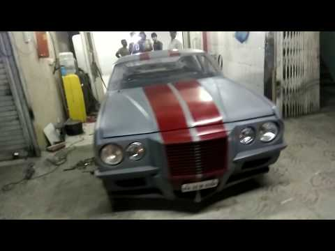 India's first hand made muscle car.gets ready for Mumbai vintage car gathering