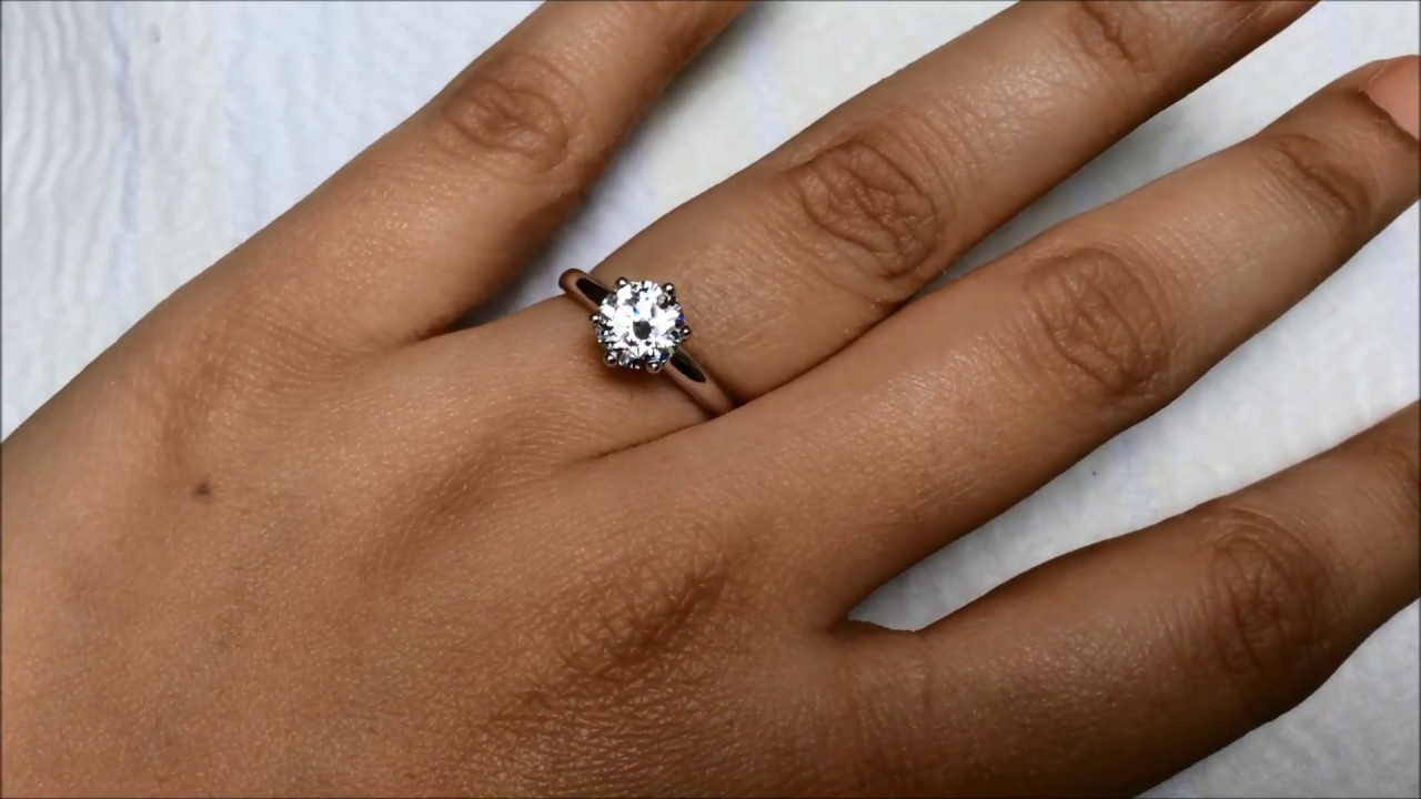 Gia Certified 1 Carat Classic & Simple Solitaire Engagement Ring From  Bangkok, Thailand  Youtube