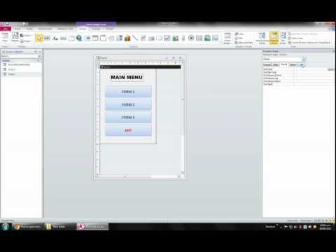 How To Open Microsoft Access Database Without Or Outside Access In Full Screen Mode. WATCH MY ASP