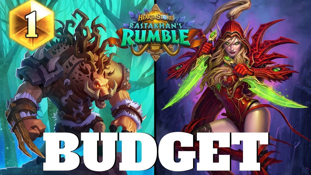 Hearthstone BUDGET ROGUE for easy Legend! Hearthstone Rastakhan's Rumble  Budget Decks #7 (2019)