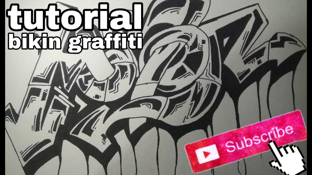 Cara bikin graffiti kertas hitam putih