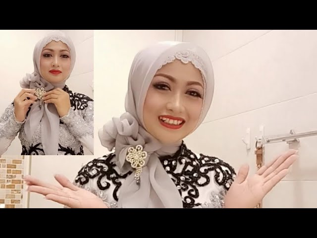 Tutorial Hijab Pesta Kebaya Hijab Wisuda Hijab Segiempat Organza Simple Youtube