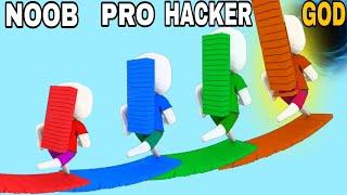 NOOB VS PRO VS HACKER VS GOD in Bridge Race screenshot 5