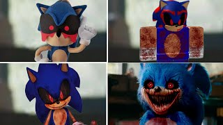 Sonic Movie But With Sonic EXE Choose Favorite Design in Plush (uh meow)