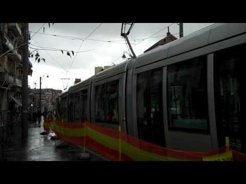 Light rail in Jerusalem | Metro ligeiro em Jerusalém
