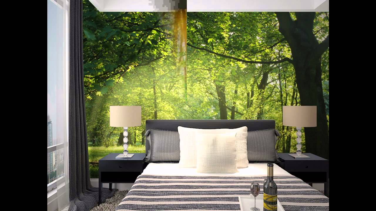 Forest room Wallpaper decor ideas - YouTube