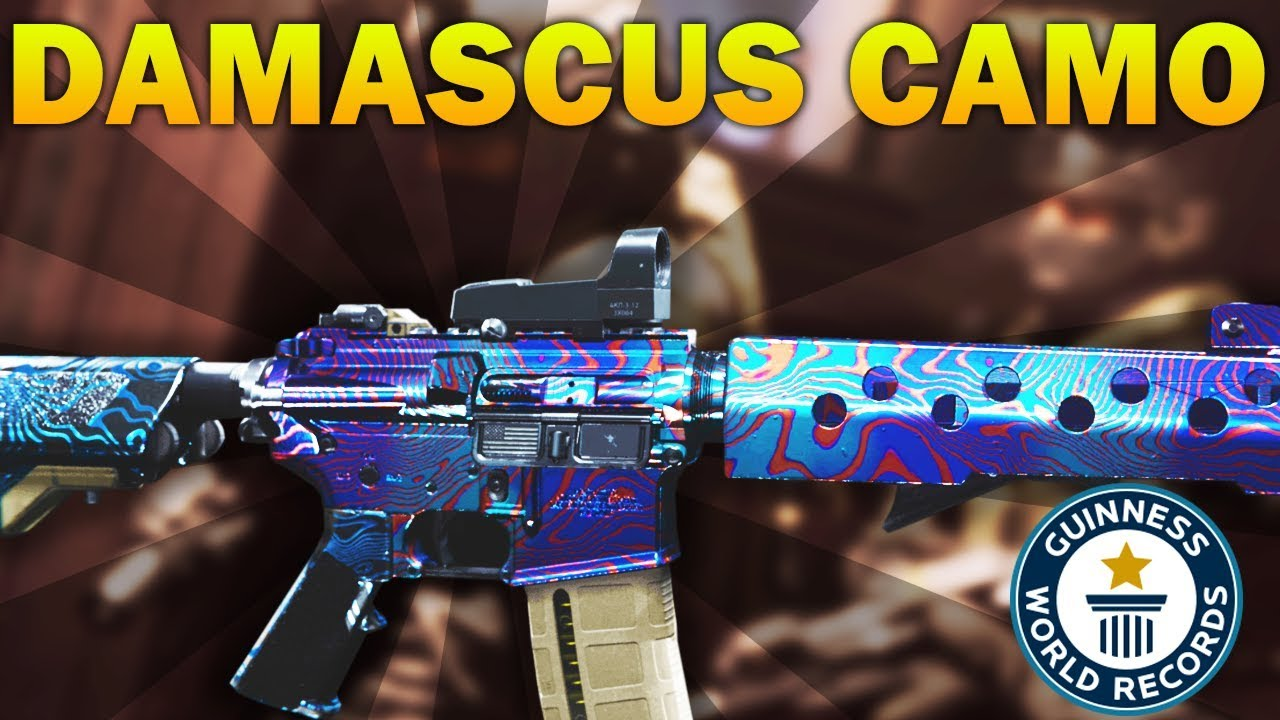 World S First Damascus Camo In Modern Warfare Except It Doesn T Exist Youtube