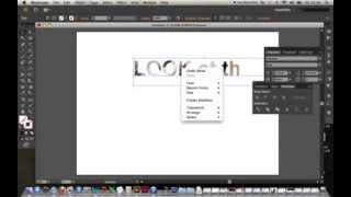 Adobe Illustrator; Tutorial 1 Type text; place an image within a word or line of text