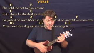 move it on over hank williams ukulele cover lesson with chords lyrics e a b7
