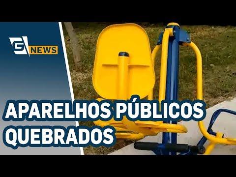 Aparelhos públicos de exercício físico estão quebrados em Pirituba