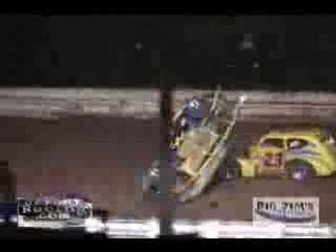 Legend Car Flips at Susquehanna Speedway Park