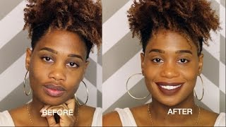 How to Conceal/Cover Dark Spots Mustache | MissKenK