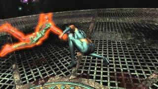 Boss fight with arclight in the deadpool video game.deadpool game