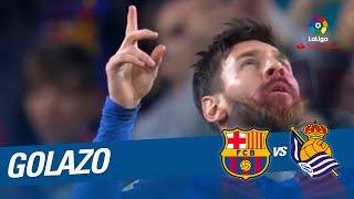 Golazo de messi (1-0) fc barcelona vs real sociedad