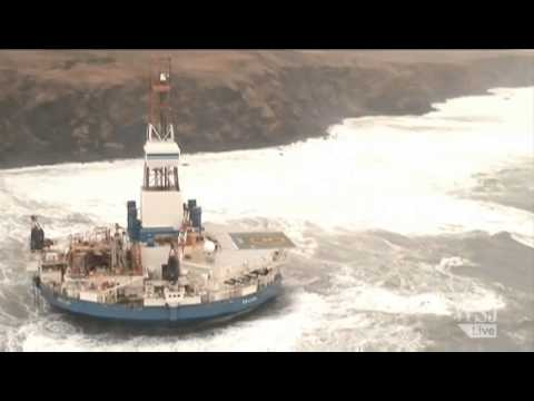 A Royal Dutch Shell Drilling Rig Is Aground