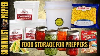 Food Storage for Preppers: The What and Why