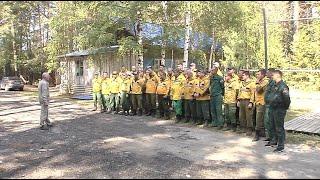 Тушить лес в Советском районе помогают специалисты из федерального резерва