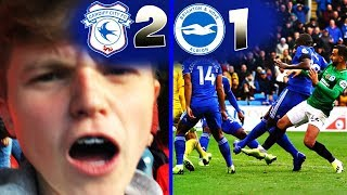 90th MINUTE WINNER! - Cardiff City 2 -1 Brighton & Hove Albion