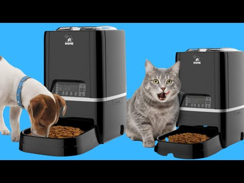 Automatic Pet Feeder | Auto Cat Dog Timed Programmable Food Dispenser Feeder For Medium Small Pet