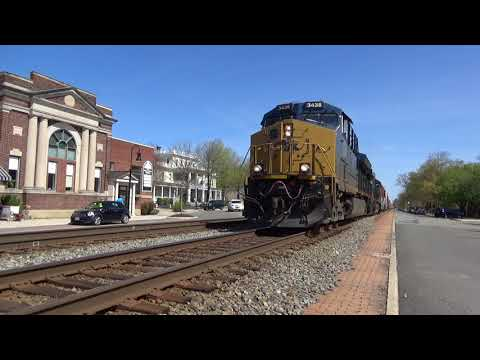 {HD} RARE!! Ex-Georgia Railway Pullman Car, CSX Coals & Manifests - RF&P Sub 4-20-18