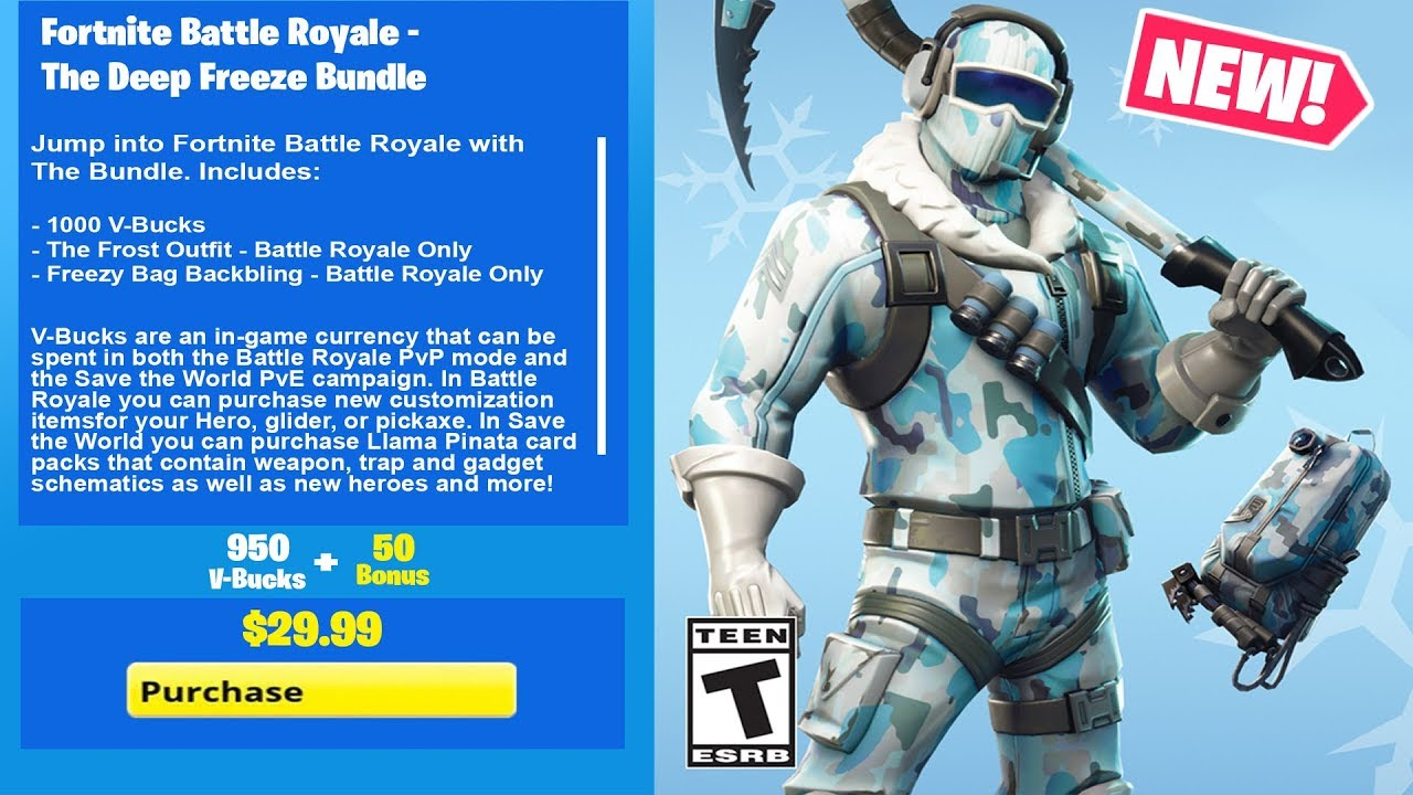 How To Get The New Deep Freeze Bundle In Fortnite Battle Royale