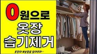 0원으로 옷장습기 제거하기/뽀송한 옷장,신발장 유지하는…