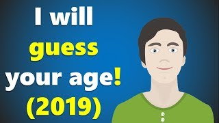 I will guess your age (2019) - Crazy math trick!