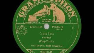 German Dance Band PAUL GODWIN plays Goofus (1932)