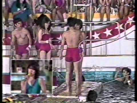 1982年の水泳大会で発見したメグミン、原めぐみ ピンクのビキニで活躍