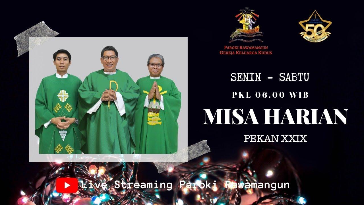Misa Harian Biasa XXIX Selasa, 20 Oktober 2020 pkl 06.00