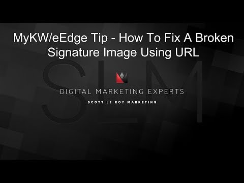 myKW Tip - How To Fix Broken Email Signature Image Using URL