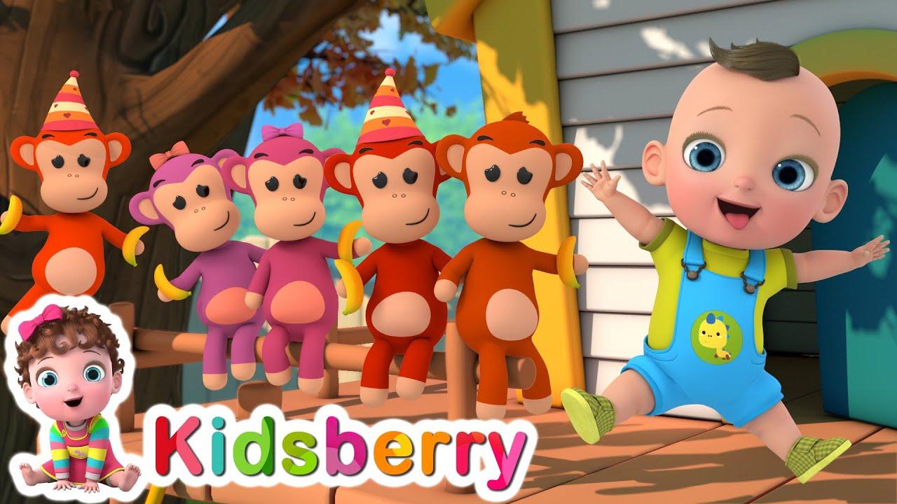Five Little Monkeys + Numbers | Nursery Rhymes | Baby Songs