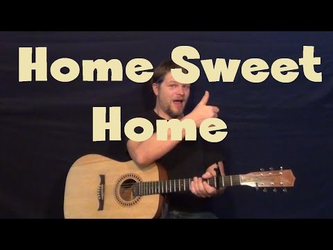 Home Sweet Home (Justin Moore) Easy Guitar Lesson How to Play Tutorial